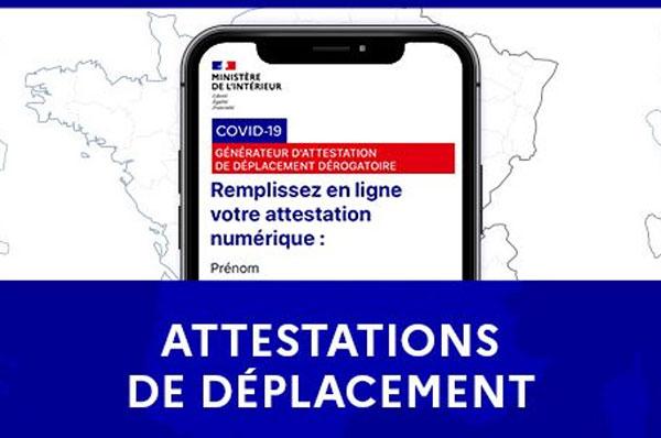 attestation de déplacement couvre feu a compter du 3 mai 2021