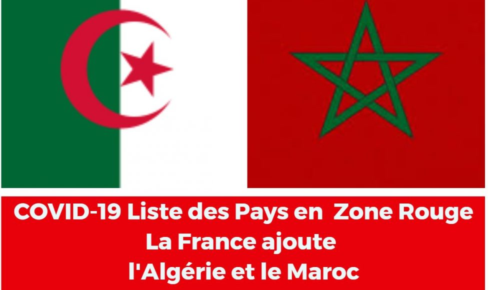 Algérie Maroc liste rouge 3
